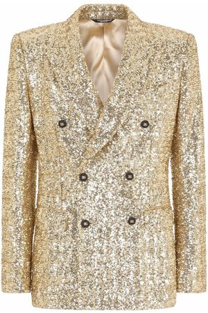 Dolce & Gabbana Men Suits - Sequin-embellished double-breasted suit