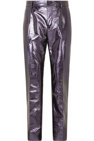 Dolce & Gabbana Metallic-effect straight-leg trousers