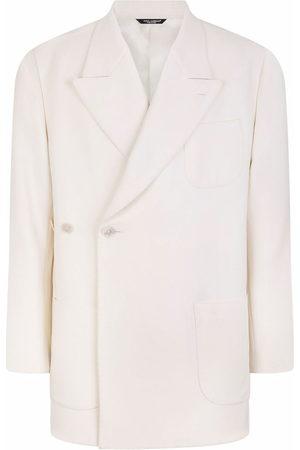Dolce & Gabbana Men Blazers - Boxy side-button wool-blend blazer