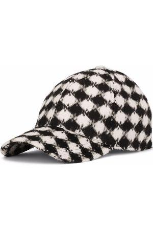 Dolce & Gabbana Textured checkerboard-print cap