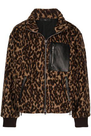 AMIRI Leopard-print polar fleece jacket