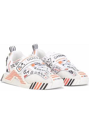 Dolce & Gabbana Graffiti-print leather low-top sneakers