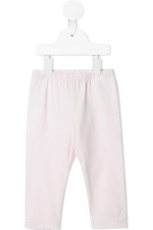 Fendi Baby Leggings - FF logo-patch leggings
