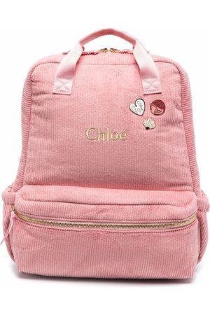 Chloé Girls Rucksacks - Corduroy logo backpack