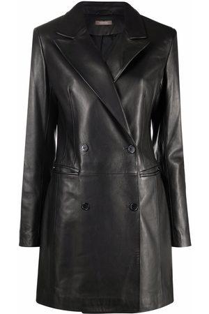 12 STOREEZ Leather blazer dress