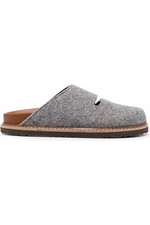 SOFIE D'HOORE Floral wool cut-out slippers - Grey