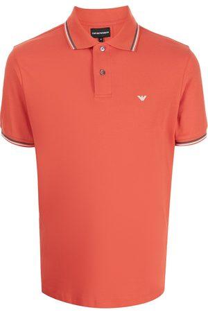 Emporio Armani Men Polo Shirts - Logo-embroidered cotton polo shirt