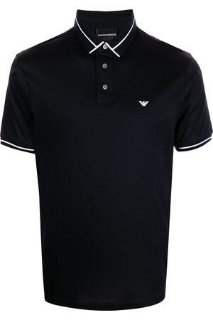 Emporio Armani Men Polo Shirts - Embroidered logo polo shirt