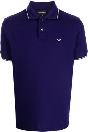 Emporio Armani Logo-embroidered cotton polo shirt