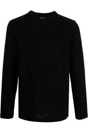 Emporio Armani Men Long Sleeve - Zigzag long-sleeve top