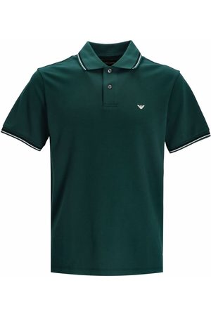 Emporio Armani Embroidered-logo short-sleeved polo shirt