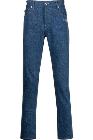 OFF-WHITE Men Slim - Logo-print straight-leg jeans