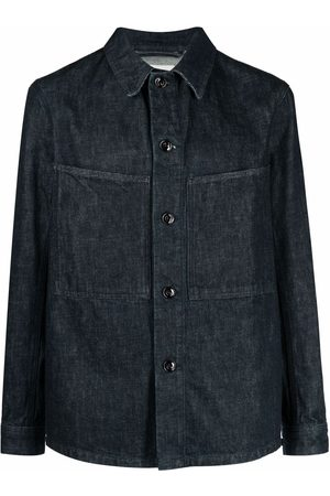LEMAIRE Denim collared jacket - 760 DENIM INDIGO