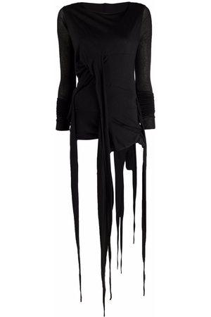 RICK OWENS LILIES Women Knitted Dresses - Fine-knit tie-fastening dress
