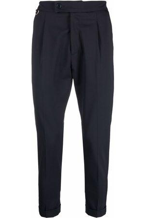 LOW BRAND Men Formal Pants - Pleat-detail tailored wool trousers