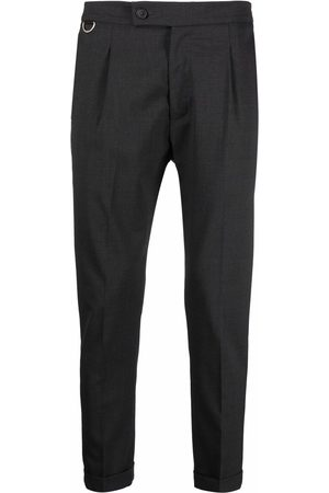 LOW BRAND Pleat-detail tailored wool trousers - Grey
