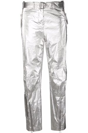 Helmut Lang Astro Foil belted trousers - Grey