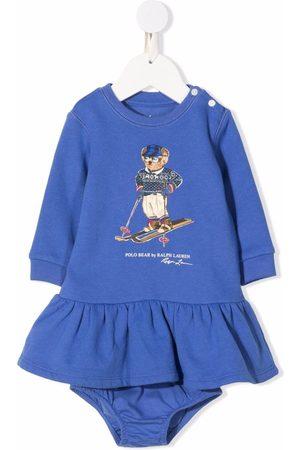Ralph Lauren Baby Casual Dresses - Polo Bear-print ruffled dress