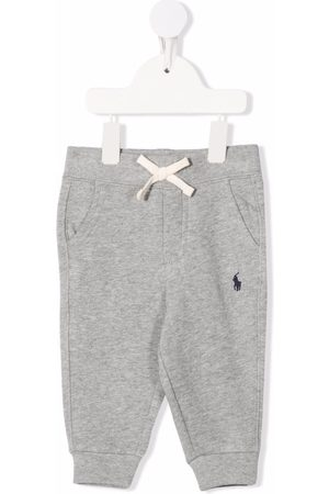 Ralph Lauren Embroidered logo drawstring trousers - Grey