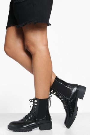 Boohoo Womens Lace Up Chelsea Hiker Boot - - 6