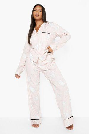 Boohoo Womens Plus Astrology Pyjama Trouser Set - - 12