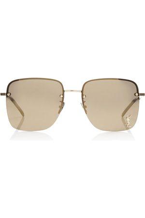 Saint Laurent Women Square - Women's Square-Frame Metal Sunglasses - /green - Moda Operandi