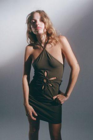 Urban Outfitters Women Halterneck Dresses - UO Daisy Cutout Halter Minidress
