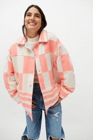 BDG Women Jackets - Brushed Melton Shirt Jacket