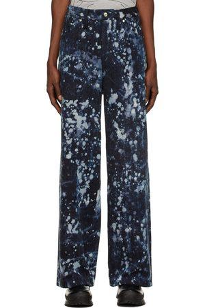 SANKUANZ Oversized Snowflakes Jeans