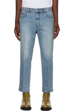 Solid Men Jeans - Semi-Wide Cropped Jeans