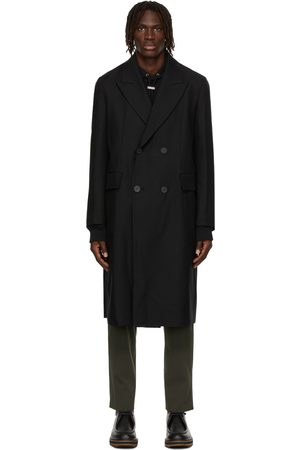 Solid Wool Double-Breasted Coat