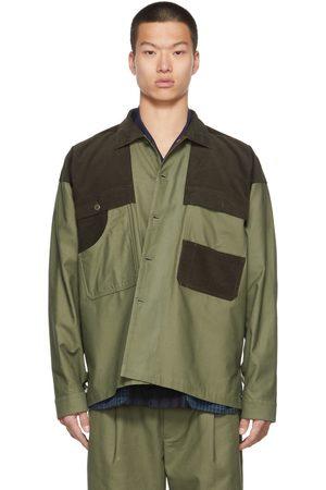 Nicholas Daley Mixed Media Oversized Shirt
