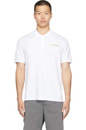 Moschino Men Polo Shirts - White Piqué Polo