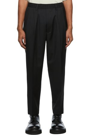 N. HOOLYWOOD Wool Wide Tapered Trousers