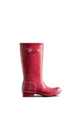 Hunter Big Kids Giant Glitter Rain Boots