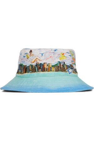 Casablanca Voyage Dans De Nuages Denim Bucket Hat
