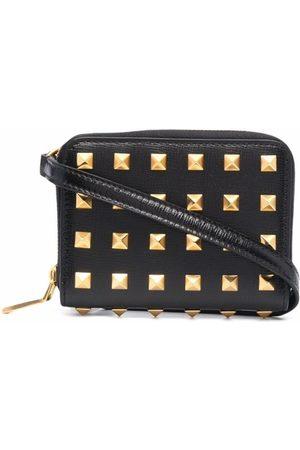 VALENTINO Studded Zip-Around Wallet