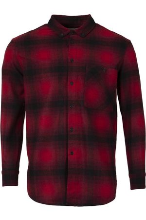 Saint Laurent Oversized Check Print Shirt Red And