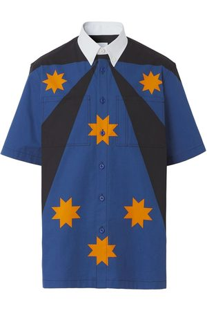 Burberry Star Detail Short-Sleeve Shirt Bright Navy
