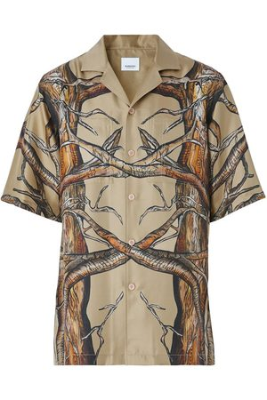 Burberry Short Sleeve Shirt Honey Pattern