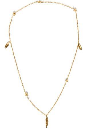 NICK FOUQUET Tone Tazio Feather Detail Necklace