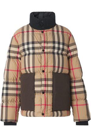 Burberry Check Print Puffer Down Jacket