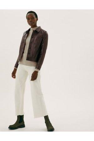 Marks & Spencer Faux Leather Trucker Jacket