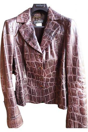 Salvatore Ferragamo Leather short vest