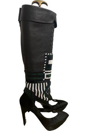Nicholas Kirkwood Pony-style calfskin western boots