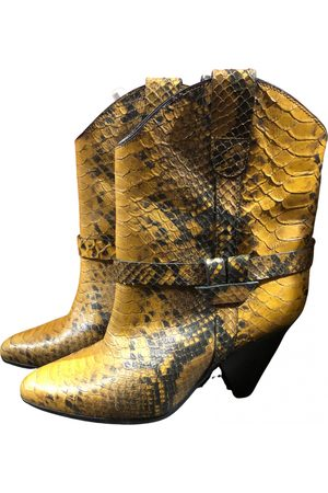 Isabel Marant Lamsy leather western boots
