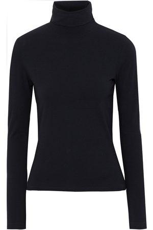 RE/DONE Woman 60s Organic Stretch-cotton Jersey Turtleneck Top Size L
