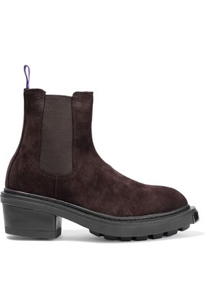 Eytys Woman Nikita Suede Chelsea Boots Chocolate Size 36
