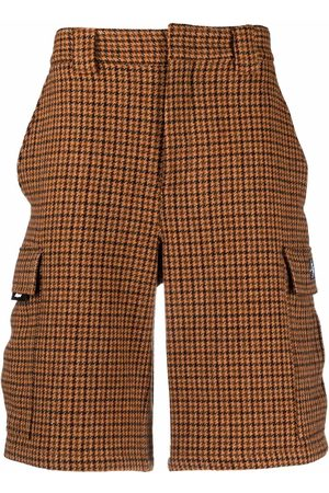 Msgm Men Bermudas - Wool checked bermuda shorts