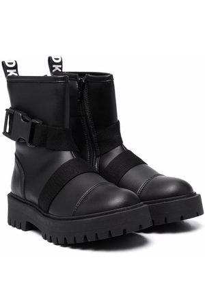 DKNY Chunky buckle-fastening boots